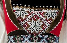Bunad from Voss, Breastplate and Belt Detail Beadwork, Belt, Detail, Gallery, Dresses, Belts, Vestidos, Roof Rack, Pearl Embroidery