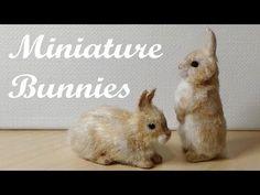 Miniature Bunnies / Rabbits - Polymer Clay Tutorial - YouTube