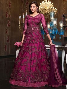 Top 5 Style Of Lehenga Suit For Any Occasion - Inddus.com Anarkali Lehenga, Lehenga Suit, Lehenga Style, Party Wear Lehenga, Anarkali Suits, Long Anarkali, Designer Anarkali, Designer Gowns, Churidar
