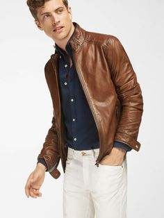 Leather jacket brands, leather jackets, raymond suit, denim suit, leather f Leather Jacket Brands, Leather Jacket Outfits, Men's Leather Jacket, Leather Jackets, Raymond Suit, Denim Suit, Herren Outfit, Hommes Sexy, Mens Fashion Suits