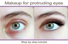 Makeup for protruding eyes Eye Shape Makeup, Hazel Eye Makeup, Eye Makeup Tips,