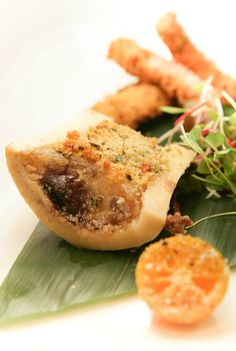 """""""Con Duong"""" Bone marrow with coriander and nuoc mam salted butter, kampot pepper"""