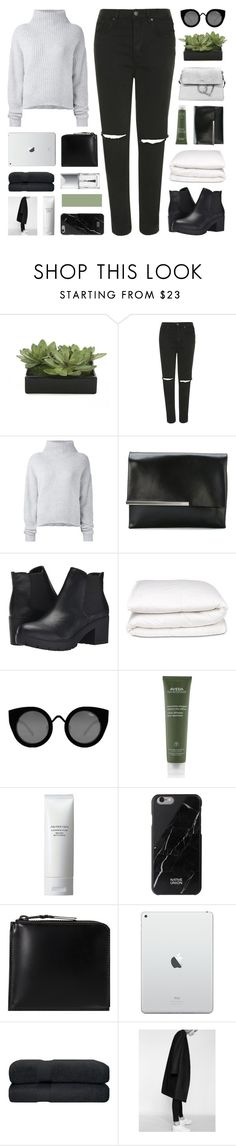 """""""//all • night • long//"""" by lion-smile ❤ liked on Polyvore featuring Lux-Art Silks, Topshop, Le Kasha, Jil Sander, Steve Madden, Selfridges, Quay, Aveda, Shiseido and Native Union"""