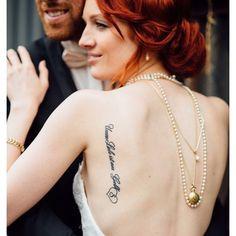 Pin for Later: 30 Tatouages Pour la Mariée Qui Veut Rendre Hommage à Sa Moitié