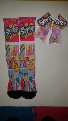 #shopkins socks and cheer bow set