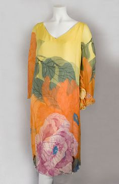 Hanae Mori layered chiffon dress, c.1980, from the Vintage textile archives.