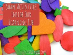 Shape Activities for Toddlers | Toddler Activities | Shapes for Toddlers | Learning Shapes | Shapes | Learning Tubs | Homeschool Learning