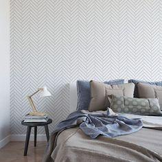 Thin line herringbone removable wallpaper / cute self adhesive wallpaper / geometric temporary wallpaper G190-27