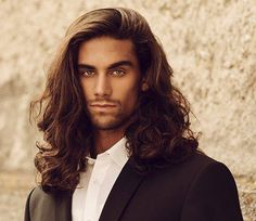 Curly Hair Men, Curly Hair Styles, Natural Hair Styles, Mens Long Hair Styles, Mens Medium Length Hairstyles, Straight Hairstyles, Male Long Hairstyles, Beautiful Men Faces, Haircuts For Men