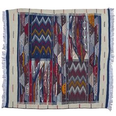 Add a stunning, bold addition to your room with this Geometric Moroccan Wool Kilim. Browse our unique artisan selection today!
