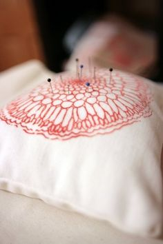 Pin cushion -also a good needlework pillow idea