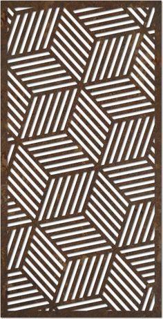 geometric design from DecoPanel Designs, Australia . Stencils, Stencil Art, Stencil Designs, Laser Cut Panels, Laser Cut Metal, Jaali Design, Decorative Screen Panels, Cnc Cutting Design, Motif Art Deco
