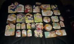 Snow White and Seven Dwarfs Scrapbooking tags die cuts by amylaugh, $5.95