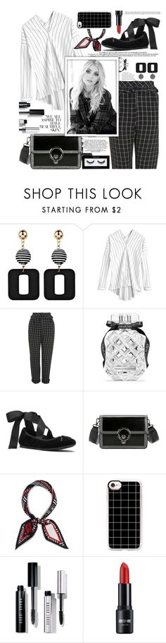 """""""Mix of texture and fabrics,black and white classics!"""" by jelena-bozovic-1 ❤ liked on Polyvore featuring Topshop, Victoria's Secret, MICHAEL Michael Kors, Henri Bendel, Casetify, Bobbi Brown Cosmetics and Inglot"""
