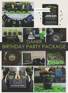 Gamer Party Package / Playstation Party / Xbox / by NestlingDesign