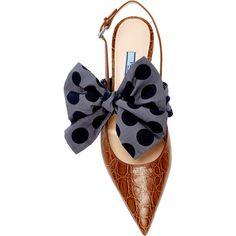 M'O Exclusive: Crocodile Slingback | Moda Operandi (£1,550) ❤ liked on Polyvore featuring shoes