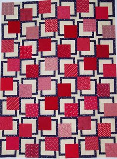 a great quilt for next time i find patriotic fabrics on sale! Quilt Block Patterns, Quilt Blocks, Cool Patterns, Sewing Patterns, Sewing Ideas, Quilt Of Valor, Patriotic Quilts, Blue Quilts, Quilt Making
