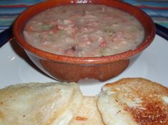 Pressure Cooker Navy Bean Soup with Ham Recipe; Blue Ribbon Winner: from Jan Millikin on Just a Pinch!  http://www.justapinch.com/recipes/soup/bean-soup/pressure-cooker-navy-bean-soup-with-ham.html?p=12