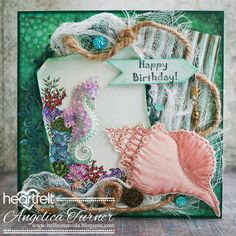 Hi friends, sharing a masculine birthday card I made with stamps, dies and paper from the Under the Sea collection  from Heartfelt Creation...