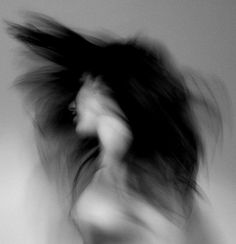 black and white with style and hair and blur... #love