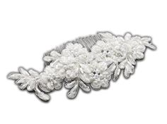 Elegant Bridal Designs Top Selling White Beaded Lace Applique Wedding Comb ** Find out more about the great product at the image link.