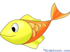 Step-By-Step Fish Drawing Lessons for children. Find out how to draw Fish drawings for Kids.