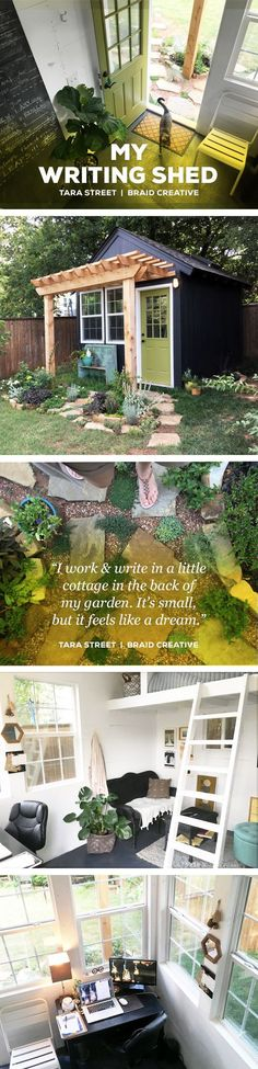 Tara's backyard writing shed | Braid Creative