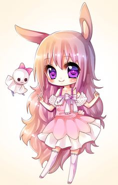 Chibi - (page - Hey Mangas ! Kawaii Anime Girl, Chibi Kawaii, Cute Anime Chibi, Kawaii Cute, Anime Girls, Chibi Bunny, Manga Drawing, Manga Art, Manga Anime