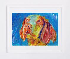 Brittany Spaniel dog painting,dog gift idea, Dog portrait, Brittany dog Brittany Wiegref Epagneul Breton French Brittany… #dogs #etsy #art