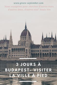 Voyageons écolo, visitons Budapest à pied Budapest City, Budapest Travel, Week End Europe, Beast From The East, Destinations, Seville Spain, Road Trip With Kids, Responsible Travel, Voyage Europe