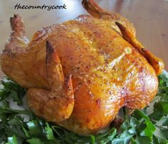 Perfect Roast Chicken--This chicken is so juicy and the meat comes out so flavorful.  The skin is crispy and seasoned just right.