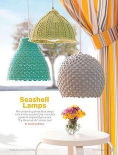 Free beautiful Lampshade pattern on La Chainette!