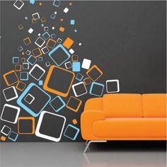 Deco Blocks Wall Sticker - Home Interior Design - 1692