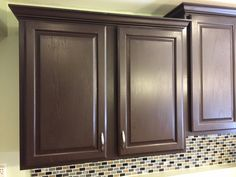 expresso painted kitchen cabinets