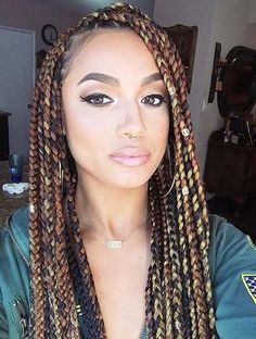Blonde Black Mixed Braids Protective Styles In 2019 Pinterest