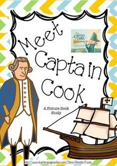 Meet Captain Cook - A Picture Book Study Australia For Kids, Books Australia, Best Cooking Oil, Cooking Bread, First Fleet, Australian Authors, Online Cookbook, Book Study, Book Week