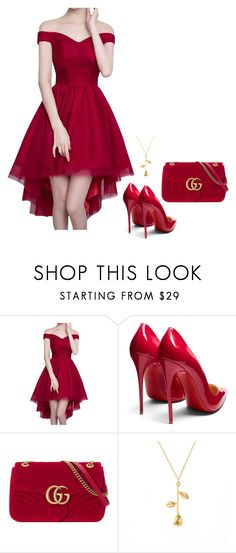 """Sem título #3102"" by mprocedi ❤ liked on Polyvore featuring Christian Louboutin and Gucci"