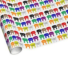 Martial Arts Rank Belts Wrapping Paper