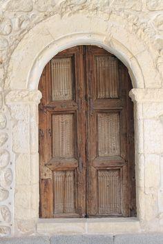 Door in the Alcazar Castle in Segovia, Spain
