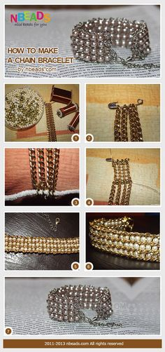 how to make a chain bracelet