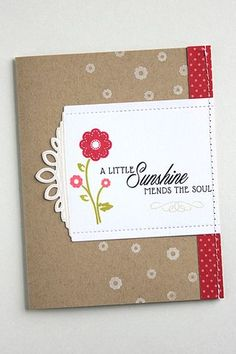A Little Sunshine Card by Heather Nichols for Papertrey Ink (May 2015)