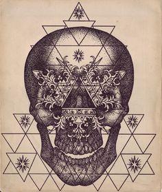 Tattoo - Skull - Geometric - Triangle - Idea