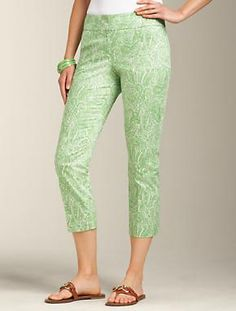 Talbots - Curvy Fit Paisley Skimmer | Pants | Apparel