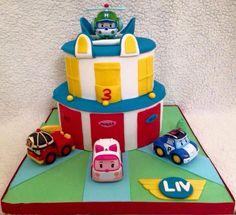 Robocar poli Cake Designs For Kids, Robocar Poli, Birthday Candles, Birthday Cake, Making Fondant, Cakes For Boys, Amazing Cakes, Cake Decorating, Cupcakes