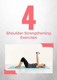 4 Shoulder-Strengthening Exercises - http://www.active.com/fitness/Articles/4-Shoulder-Strengthening-Exercises
