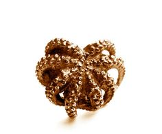 Ring, Justine Brooks, Bronze, Octopus Ring, Twig and Boat