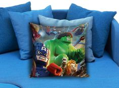 Marvel Avengers  These soft pillowcase made of 50% cotton, 50% polyester.  It would be perfect to decorate your home by using our super soft pillow cases on sofa, chair, bench or bed.  Customizable pillow case is both comfortable and durable, improving the quality of your sleep with these comfortable pillow case, take it home now!  Custom Zippered Pillow Cases available in 7 different size (16″x16″, 18″x18″, 20″x20″, 16″x24″, 20″x26″, 20″x30″, 20″x36″)