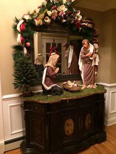 Christmas Jesus, Christmas Nativity Scene, Christmas Tree Design, Cool Christmas Trees, Christmas Villages, Modern Christmas, Christmas Love, Outdoor Christmas, Christmas Holidays
