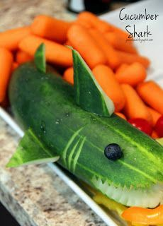Shark Cucumber! Perfect for a shark party :)