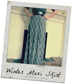 Winter Maxi Skirt: Free Pattern #sewing